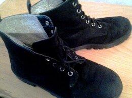 Ботинки - ботинки замшевые демисезонные, р.38, 0