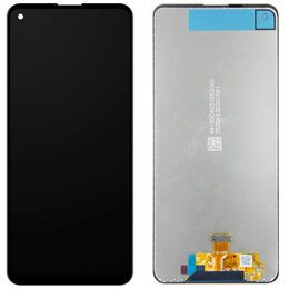 Дисплеи и тачскрины - Дисплей с тачскрином Samsung Galaxy A21s черный оригинал, 0