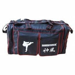 Аксессуары и принадлежности - KAMIKAZE сумка для тренировок 48x21x23 см черная, 0