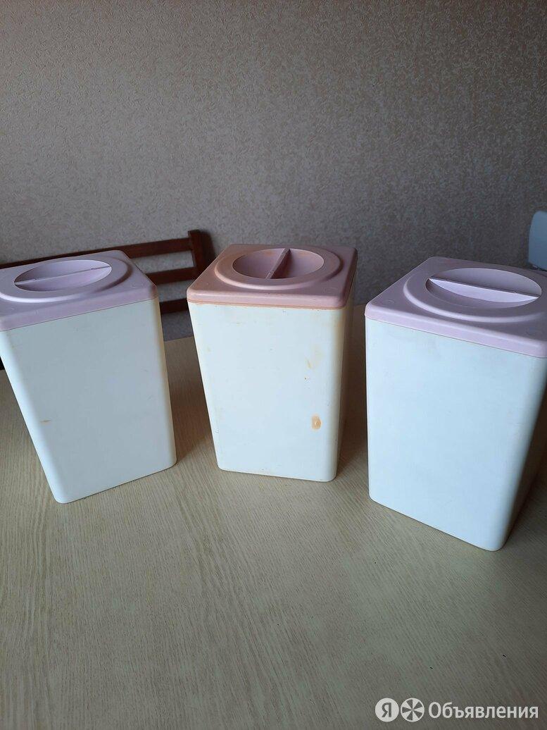Банка для сыпучих пластик 3 шт по цене 40₽ - Ёмкости для хранения, фото 0
