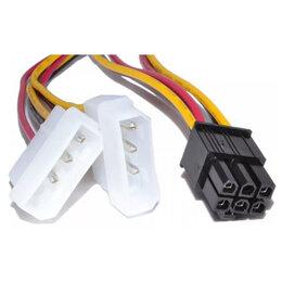 Компьютерные кабели, разъемы, переходники - Переходик Молекс на 6-pin / 8 Pin, 0