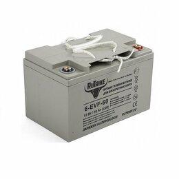 Аккумуляторы и комплектующие - Аккумулятор тяговый для спецтехники Rutrike 6-EVF-60 12 V 70 Ah, 0