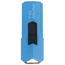 USB Flash drive - Память USB2.0 Flash 32 Gb SMARTBUY Stream, синий, SB32GBST-B, 0