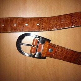 Ремни, пояса и подтяжки - Мужской кожаный ремень, 0