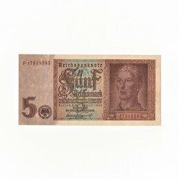 Банкноты - 5 Рейхсмарок 1942, Германия, Третий Рейх, 0