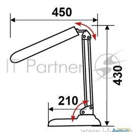 Настольные лампы и светильники - Светильник настольный Трансвит Delta1u/bl на подставке G23 люминесцентный чер..., 0
