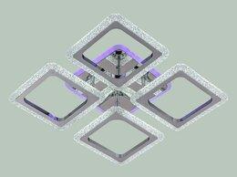 Люстры и потолочные светильники - Люстра светодиодная 50559/4CR RGB ЭкономСвет, 0