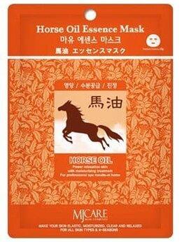 Маски - Маска тканевая конский жир Mijin Horse Oil…, 0