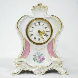 Часы настольные и каминные - Германия фарфор Часы букет Mercedes, 0