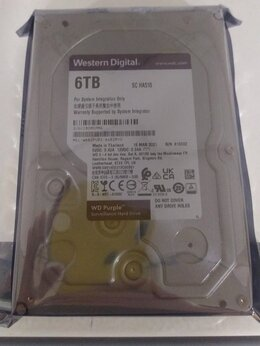 Внутренние жесткие диски - Жёсткий диск WD HDD 6Тб Purple SATA WD62purz/x, 0