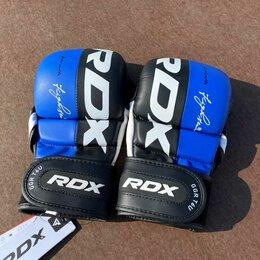 Перчатки для единоборств - Перчатки для мма RDX Leather Т6 Синие (M), 0