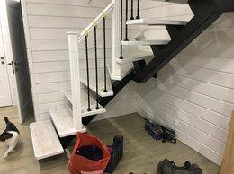Лестницы и элементы лестниц - Лестница на металлокаркасе (монокосоур), 0