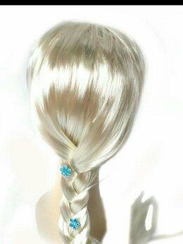 Карнавальные и театральные костюмы - Парик для принцессы Эльзы с украшениями, детский, 0