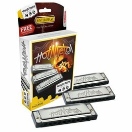 Губные гармошки - Набор губных гармошек Hohner Hot Metal CGA, 0