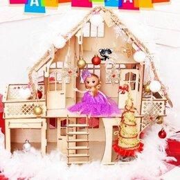 Игрушечная мебель и бытовая техника - Новый деревянный Кукольный домик , 0
