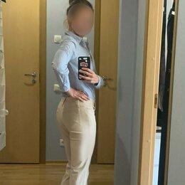 Джинсы - Светло-бежевые джинсы-клеш Benetton, 0