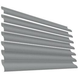 Заборы, ворота и элементы - Ламель Еврожалюзи RAL7004 Серый металлическая, 0