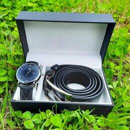 """Наручные часы - Подарочный набор Armani """"Черные Часы+Ремень"""", 0"""