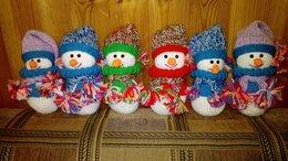 Мягкие игрушки - Вязанная игрушка. Снеговик (1 штука). , 0