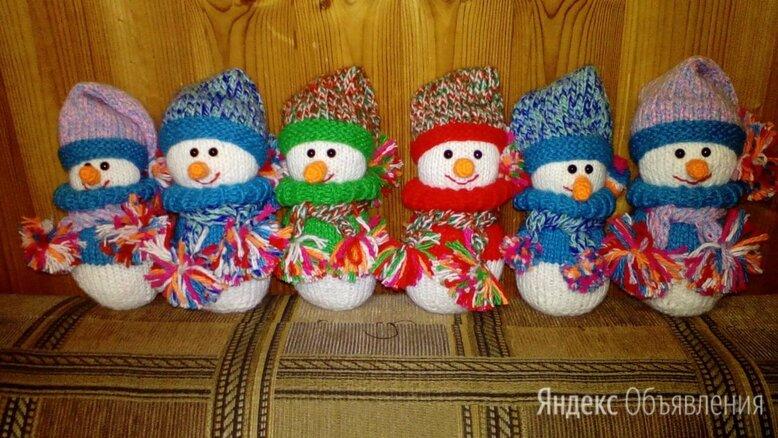Вязанная игрушка. Снеговик (1 штука).  по цене 300₽ - Мягкие игрушки, фото 0