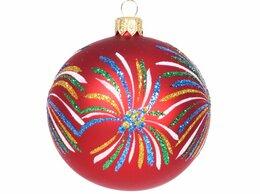 Ёлочные украшения - Елочный шар САЛЮТ, 85 мм, красный, Елочка, 0