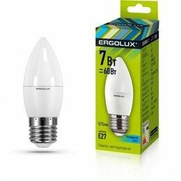 Лампочки - Светодиодная лампа E27 7W 4500K C35 Ergolux…, 0
