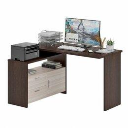 Компьютерные и письменные столы - СКЛ-Прям130 + ТБЛ компьютерный стол, 0