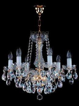 Люстры и потолочные светильники - Хрустальная люстра Чехия Artglass Heidi VI, 0