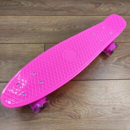Скейтборды и лонгборды - Пенниборд/Скейтборд розовый, 0