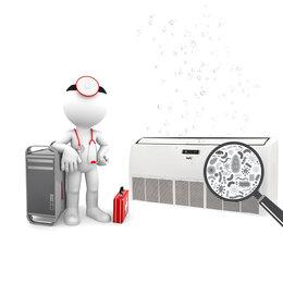 Ремонт и монтаж товаров - Антибактериальная обработка 18-60 моделей сплит-системы потолочного типа (опция), 0