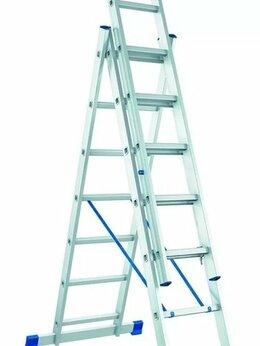 Лестницы и стремянки - Лестница алюминиевая 3-х секционная 3х7 (4,28м), 0