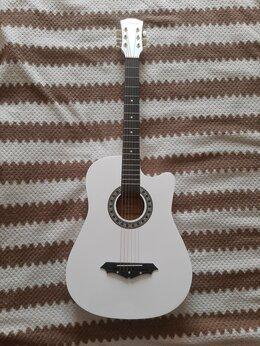 Акустические и классические гитары - Гитара акустическая белая, 0