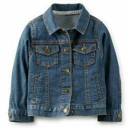 Куртки и пуховики - Новая джинсовая куртка carters р 18 м, 0