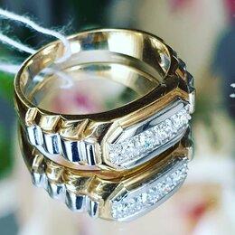 Кольца и перстни - Печатка мужская с бриллиантами, 0
