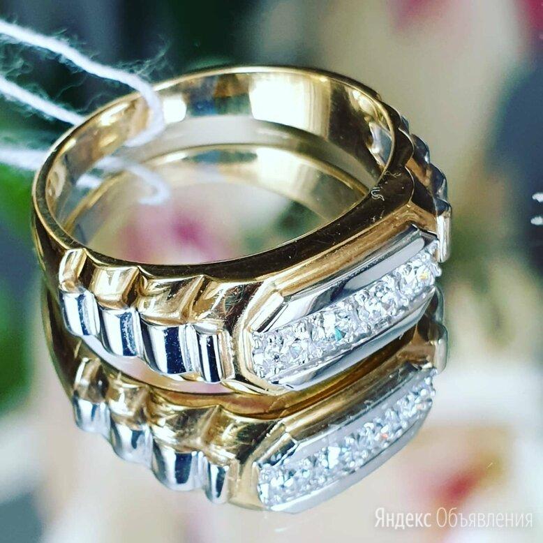 Печатка мужская с бриллиантами по цене 90350₽ - Кольца и перстни, фото 0