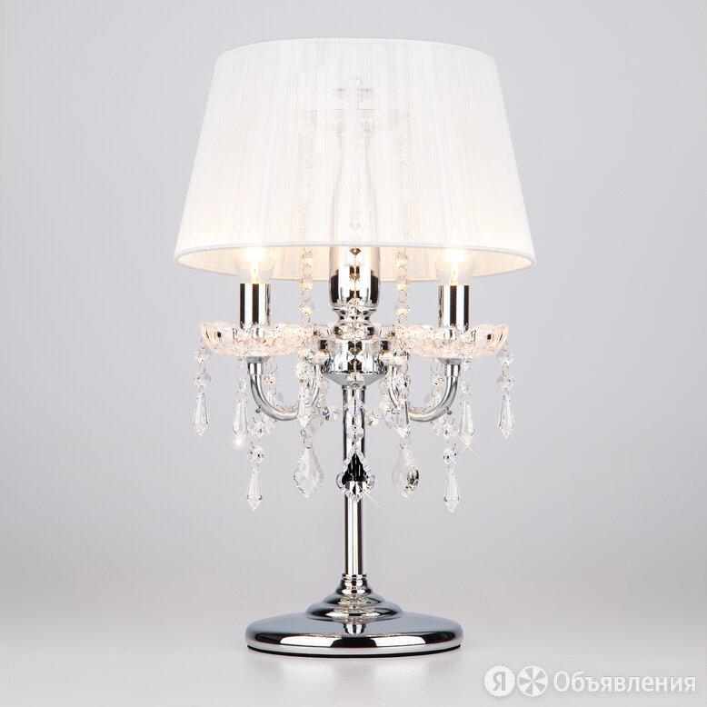 Настольная лампа 2045/3T хром/белый по цене 9850₽ - Настольные лампы и светильники, фото 0
