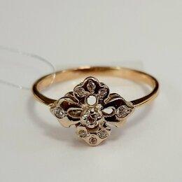Кольца и перстни - Золотое кольцо с фианитом 17,5 р.  585, 0