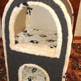 Лежаки, домики, спальные места - Домик двухэтажный для кошек. , 0