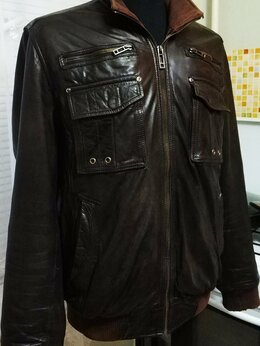 Куртки - Итальянская кожаная куртка Spesh, р 48-50, M-L, 0