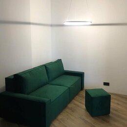 Диваны и кушетки - Модульный диван-кровать изумрудный велюровый, 0