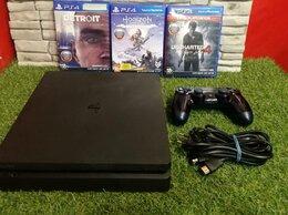 Игровые приставки - Playstation Ps4 Slim 500Gb Геймпад + 3 Игры, 0