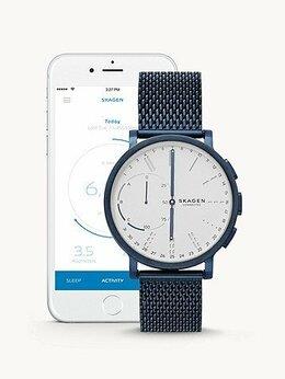 Умные часы и браслеты - Гибридные часы Skagen Hagen Connected Steel Mesh…, 0