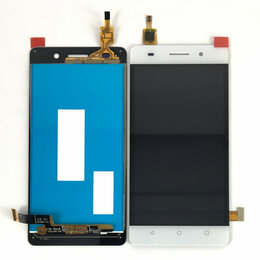 Дисплеи и тачскрины - Дисплей для Huawei Honor 4C (CHM-U01) белый, 0