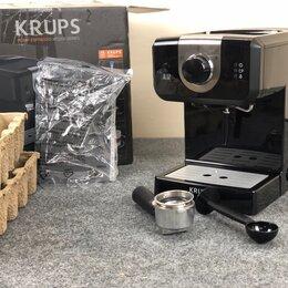 Кофеварки и кофемашины - Кофеварка рожкового типа Krups Opio XP320830, 0