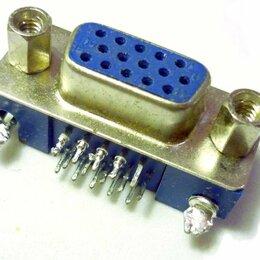 Компьютерные кабели, разъемы, переходники - Разъем VGA 15 (3x5) pin, Female (розетка), 0