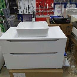 Раковины, пьедесталы - Тумба подвесная для ванной комнаты 97см МДФ, 0