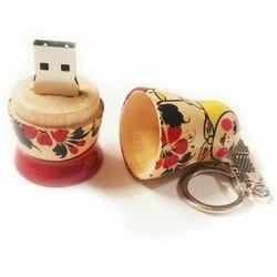 USB Flash drive - Флеш-накопитель USB  8GB  Матрешка (11441)  дерево (ручная роспись), 0