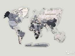 Картины, постеры, гобелены, панно - Карта мира из дерева Воронеж, 0