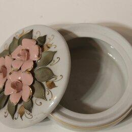 Декоративная посуда - Вазочка с крышечкой, кисловодский фарфор ручной работы, 0