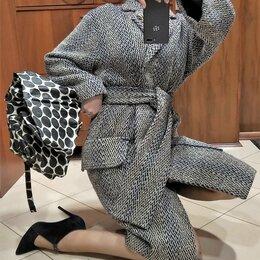 Пальто - 🔴 Max Mara Италия пальто кашемир шерсть с поясом на подкладке, 0